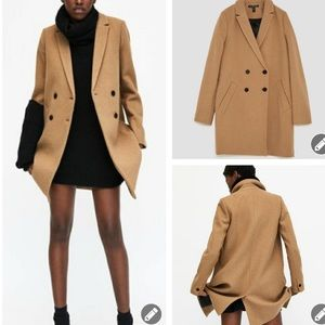Zara TRF Outerwear Double Breasted Coat